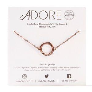 Adore By Swarovski® Circle Bracelet Rose Gold NWT